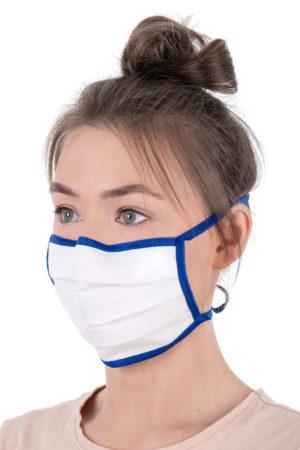 Mund-Nasenmaske (Bänder, mit Nasenbügel)